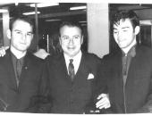 Evelio Tieles, Henryk Szeryng y Cecilio Tieles. Barcelona, 1972.