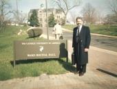 En la Universidad Católica Washington invitado por la  profesora Emma Garmendia, 1992.