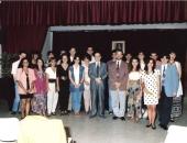 I Curso de Verano 1992. Los pianistas y pedagogos  A. Mikowsky y Cecilio Tieles con los participantes.