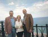 Cecilio Tieles, Harold Gramatges y su esposa en Tarragona. 1997.