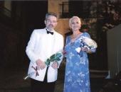 Con la gran cantante, Anna Ricci, en el concierto