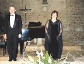 Junto a la cantante, Aida Vera. Empuries, Abril 2001.