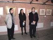 Cecilio Tieles en la exposición del pintor Adrià Ruera organizada por laAssociació Cultural Catalana-Iberoamericana y MariaEstradé,  Regidora de Cultura del