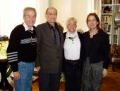 Cecilio y Xiomara Suárez en el domicilio del compositor, traductor y ensayista, Ramón Barce y su esposa, Elena Martín en noviembre 2004.