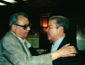 Con el compositor Joan Guinjoan (1931) en el  homenaje que le rindió la ACC-I en la ciudad de Reus