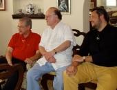 Maurizio Moretti, Solomon Mikowsky y Cecilio Tieles en La Habana. Marzo 2007