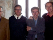 Junta Directiva de la Unió de Músics de Cataluña. Jaume Barri, vocal; Cecilio Tieles, tesorero; Joan Carles Blanch, vocal; Antoni Más, presidente; Max Sunyer, vicepresidente; Pep Picas, vocal; Miguel Cruz, secretario. Barcelona, 2008
