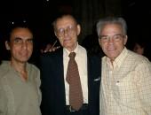 Con los compositores Juan Piñera y Alfredo Díez Nieto.  Ciudad de La Habana, 22 febrero 2009.