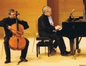 LeonidGorokhov, violonchelista y Cecilio Tieles,  Auditori Josep Carreras, Vila-seca. julio 2010.