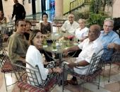 Rosario Cárdenas, Juan Piñera, Isabel, Miriam Escudero Suástegui, Luis Carbonell, Xiomara, Cecilio, Radamés Giro. 27 de mayo de 2013.