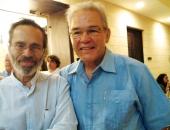 Leo Brouwer y Cecilio Tieles. Encuentro de Jóvenes Pianistas, La Habana. 27 de mayo de 2013.