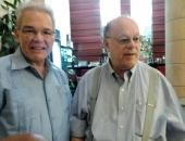 Cecilio Tieles y Salomón Mikowski. Encuentro de Jóvenes Pianistas, La Habana. 27 de mayo de 2013.