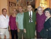 Olavo Alén, Guido López Gavilán, Alfredo Díez Nieto, Cecilio Tieles, Lucy Provedo, entre otros asistentes al concierto. 10 de noviembre de 2014.
