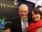 Con Imilka Fernández de Posada, de la asociación worldwidecubanmusic.com. 14 de noviembre de 2014.