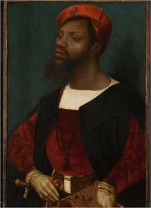"""Jan Mostaert (1474-1552/3 Retrato de un supuesto """"africano""""."""